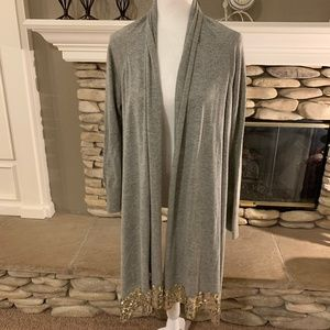 Acrobat Draping Cardigan with Sequins